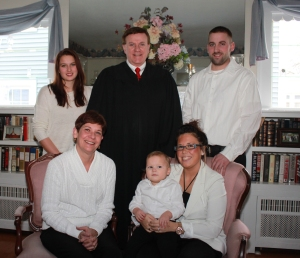 From left: Katherine, Lennie, Judge Duggan, Callan Patrick, Rachel, and Brian