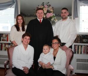 From left: Katherine, Lennie, Judge Duggan, Callan Patrick, Rachel, and Brian